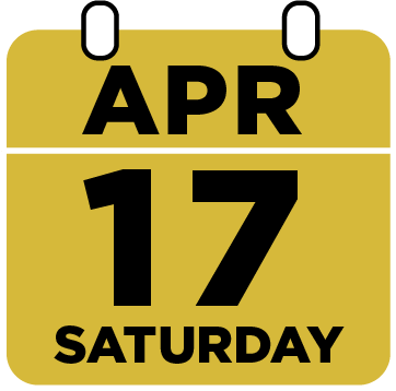 Saturday April 17th